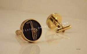 kol düğmesi, promosyon, saksafon, firmaya özel, tasarım, altın kaplama, cufflink, cuff link, Ostim, Ankara