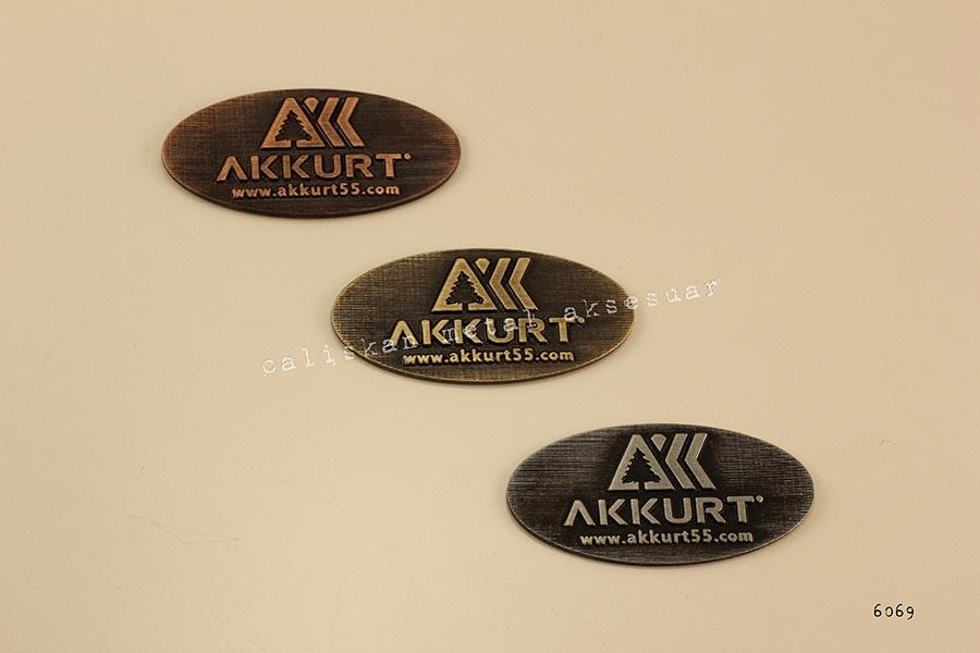 AKKURT metal etiket